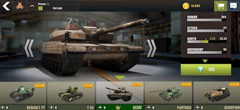 War Machines: Tank Battle - Army & Military Games عکس 13